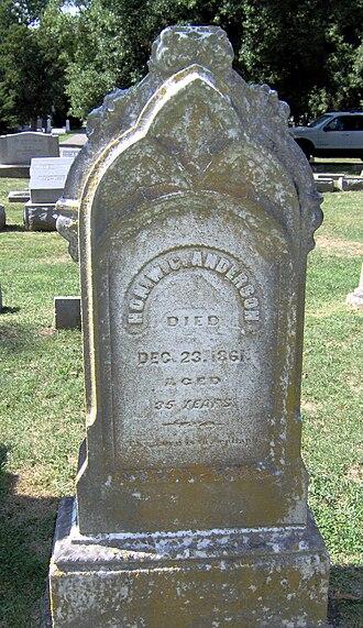William Clayton Anderson - Gravestone of Rep. William Clayton Anderson located in Bell View Cemetery, Danville, Kentucky.