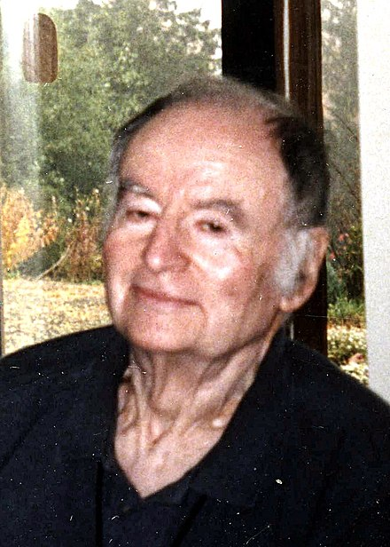 William Foote Whyte at home in Lansing, New York, 1996.