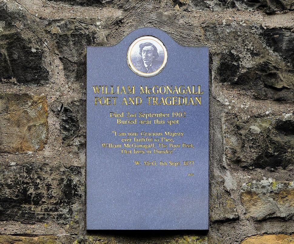 William McGonagall plaque, Edinburgh, Scotland-20March2010