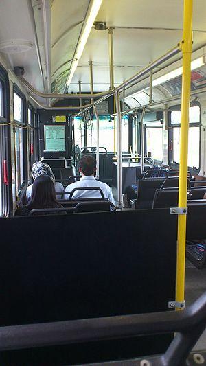Winnipeg Transit - Inside a Winnipeg Bus