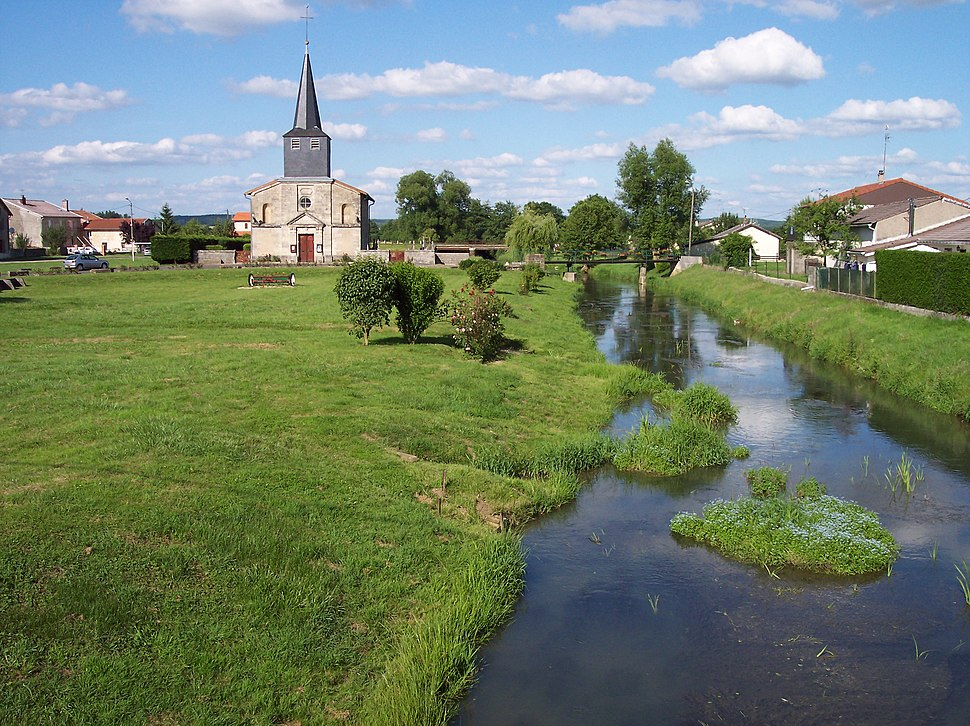 Church beside the River Wiseppe at Wiseppe