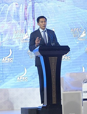 The leader of APEC setting the tone for the 2013 CEO summit with his opening speech. Wishnu Wardhana - Opening APEC CEO Summit 2013.jpg