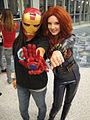 Wizard World Anaheim 2011 - Iron Man and Black Widow (5675035240).jpg