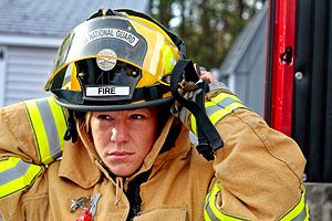 Women in firefighting - A firefighter for the Air National Guard