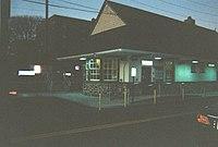 Woodmere LIRR Station at Dusk; December 29, 2009.jpg