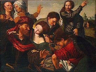Jan Sanders van Hemessen - Image: Workshop of Jan Sanders van Hemessen The Calling of Matthew