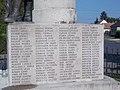 World War I memorial by Géza Horváth, name panel, 2020 Marcali.jpg