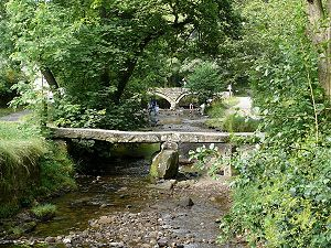 Clapper bridge - Clapper bridge at Wycoller, Pendle, East Lancashire