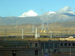 Yangbajing geothermal power station in Tibet