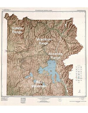 List Of Mountains And Mountain Ranges Of Yellowstone National Park - Map of mountain ranges in the united states