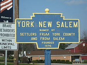 New Salem, Pennsylvania - Image: York New Salem, PA Keystone Marker