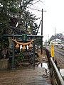 Yoshitsune Shrine on Yoshitsuneiwa Rock.jpg