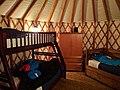 Yurt interior, Riverside Resort, Whistler (31746241953).jpg