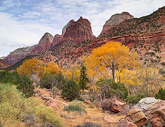 Zion National Park - Zion Canyon near the park entrance