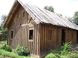 Zafimaniry - Traditional Zafimaniry wooden house