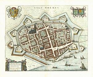 Zaltbommel - Image: Zaltbommel 1649 Blaeu