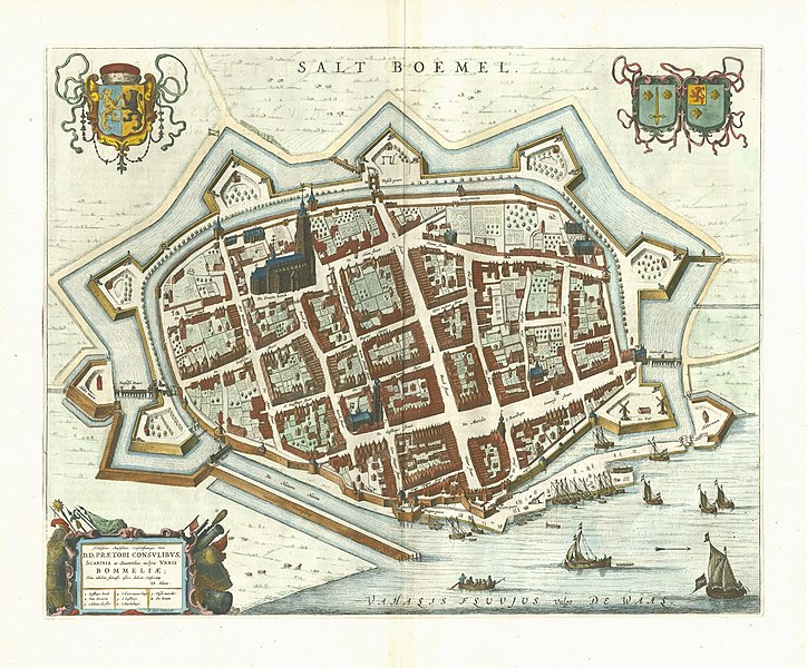 "1649 map of Zaltbommel in Willem and Joan Blaeu's ""Toonneel der Steden"""