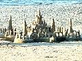 Zamek z piasku na kołobrzeskiej plaży (Aw58).JPG