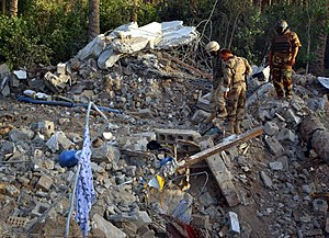 Zarqawi safe house rubble, June 8 2006