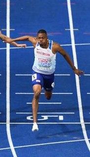 Zharnel Hughes British sprinter of Anguillan descent