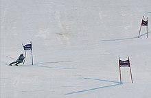 La Maze in gara nello slalom gigante di Maribor del 2011