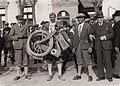 Zolnay Endre 1929-ben szabadalmaztatott összecsukható motorkerékpárja. Fortepan 94048.jpg