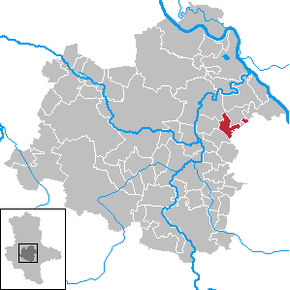 Location of Zuchau within Salzlandkreis