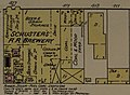 """SCHUSTER'S R. R. Brewery"" in 1889 map detail, Sanborn Fire Insurance Map from San Francisco, San Francisco County, California. LOC sanborn00813 005-22 (cropped).jpg"