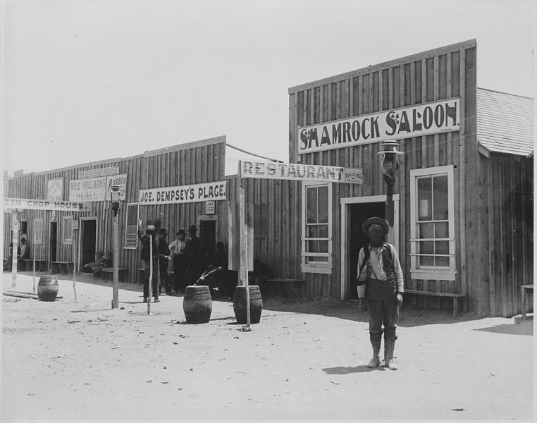 "File:""Saloons and disreputable places of Hazen (Nev.) June 24, 1905."" By Lubkin - NARA - 532037.jpg"