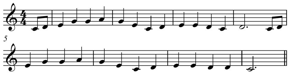 %27Oh, Susanna%27 pentatonic melody