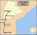 (Kacheguda - Bangalore) Express Route map.jpg