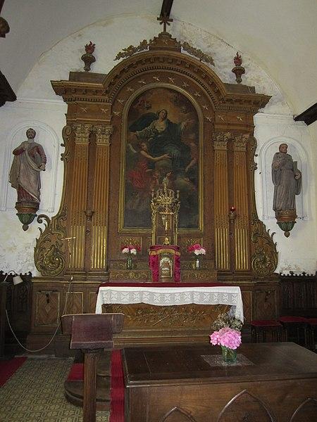 Église Saint-Pierre d'Heugueville-sur-Sienne; l'ensemble provient de l'église des Capucins de Coutances.