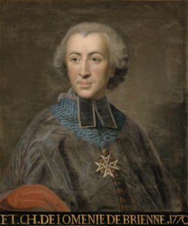 Étienne Charles de Brienne, minister of finance 1787-88