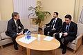 Ārlietu komisijas priekšsēdētājs Romualds Ražuks tiekas ar Gruzijas vēstnieku (6301809179).jpg