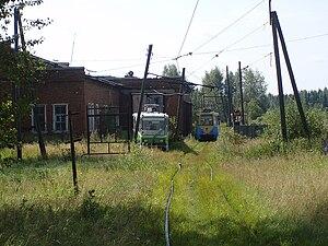 Trams in Volchansk - Volchanka tram depot
