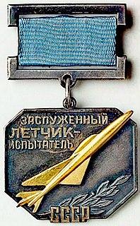 Honoured Test Pilot of the USSR Award