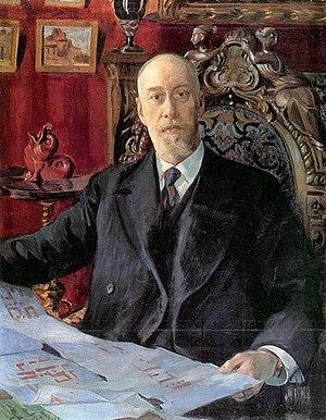 Nikolai von Meck - Portrait by Kustodiev, 1913