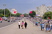 Площадь Суворова после парада