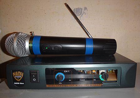 Радиомикрофон со специальным радиоприёмником