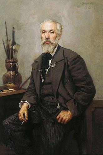 Konstantin Savitsky - Portrait of Savitsky by Nikolai Grandkovsky, Tretyakov Gallery (1902)