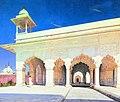 Тронный зал Великих моголов Шах-Джахана и Ауранг-Зеба в форте Дели.jpg
