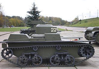 T-38 tank - T-38 on display at the Breakthrough of the Siege of Leningrad Museum near St. Petersburg