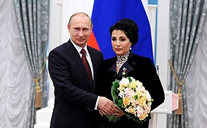 Irina Viner-Usmanova - Viner with President Vladimir Putin in May 2015