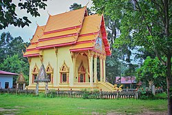 Ordination hall of local temple Wat Tri Suwannaram