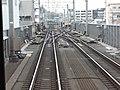 大倉山駅 - 菊名駅間の両渡り線(2016年1月23日).JPG