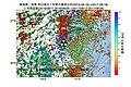 東海第二発電所所周辺の過去1年間の地震の震源分布と地殻変動.jpg