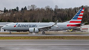 American Airlines'a ait 2019 model bir Boeing 737-8 MAX