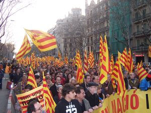Catalan Nationalist demonstration celebrated i...