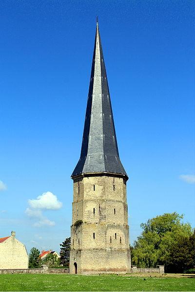 La Tour Pointue de l'ancienne abbaye Saint-Winoc - Bergues (Nord, France).