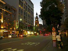 Park street at dusk